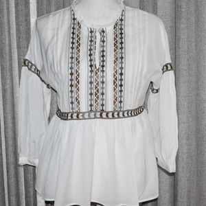 Lucky Brand Peasant Blouse Size Sm
